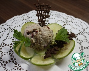 Рецепт Рисовое мороженое с ванильно-мятной ноткой