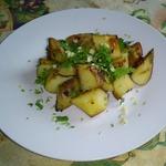 Печеный Картофель с зеленью в соевом соусе