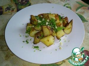 Рецепт Печеный Картофель с зеленью в соевом соусе