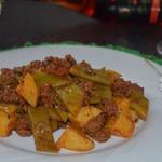 Турецкая сковородочка со стручковой фасолью, от Юсуфа