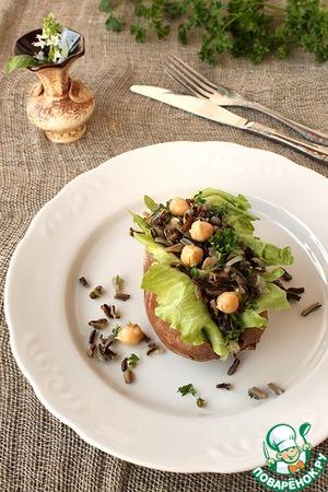 Рецепт Карамельный батат с диким рисом и проростками нута