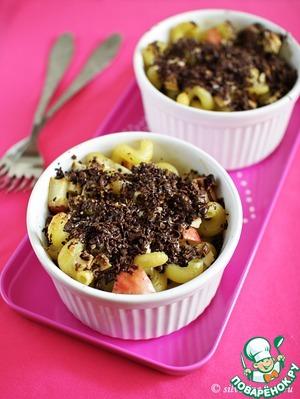 Рецепт Запеканка из макарон с яблоками и шоколадом