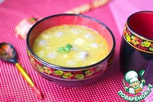 Рецепт Гороховый суп с фрикадельками