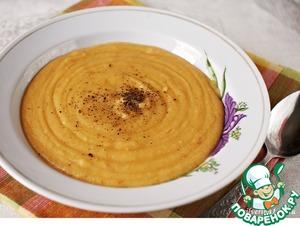 Рецепт Острый овощной суп-пюре с чечевицей
