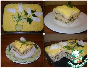 Рецепт Слоёный салат с крекерами