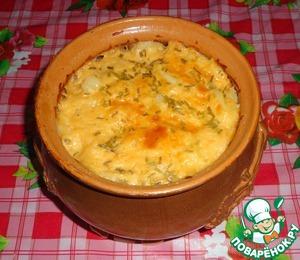 Рецепт Картошка с морковью и творогом в горшочке
