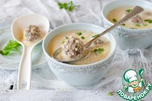 Рецепт Кукурузный густой суп с фрикадельками в мультиварке