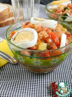 Рецепт Писто манчего (овощи с ветчиной по-ламанчски)