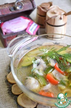 Рецепт Густой суп из фасолевой лапши