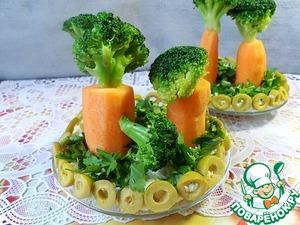 """Рецепт Сырно-овощной салат """"Сад на тарелке"""""""