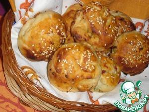 Рецепт Ароматные булочки с кунжутом