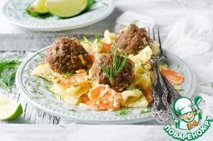 Рецепт Фрикадельки с адыгейским сыром и овощами в мультиварке