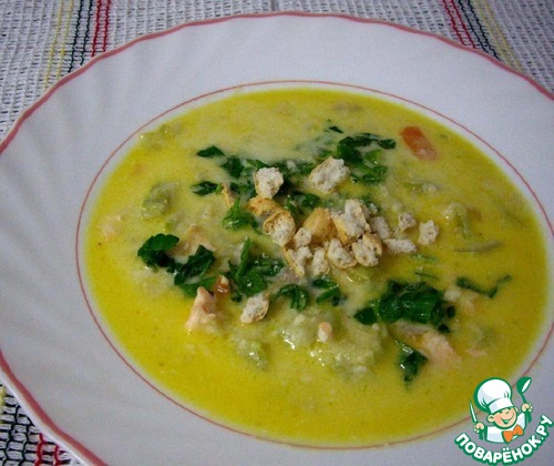 Сырный суп с семгой рецепт с фото
