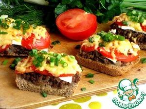 Рецепт Горячие бутерброды с фаршем