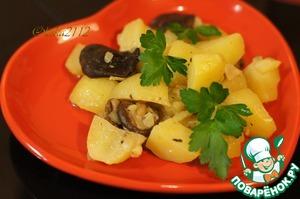 Рецепт Картофель тушёный с грибами