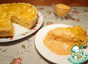 Рецепт Пирог с квашеной капустой и соусом из сладкого перца