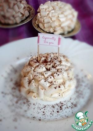 Рецепт Пирожные с безе и сливочным кремом