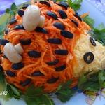 "Салат ""ёжик"" с корейской морковкой"