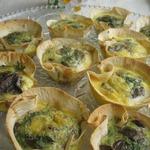 Корзиночки из лаваша с грибами
