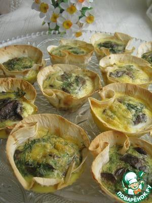 Рецепт Корзиночки из лаваша с грибами
