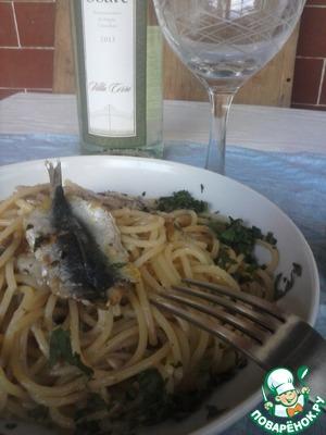 Рецепт Килька и петрушка. Соус для спагетти