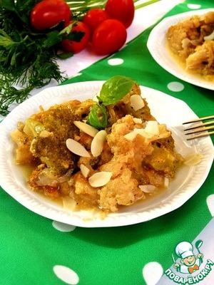Рецепт Гарнир из брокколи и цветной капусты