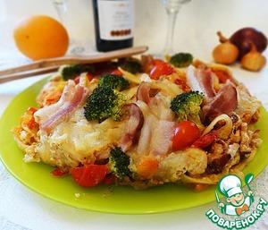 Рецепт Запеканка из лапши с овощами