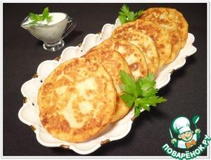 Рецепт Картофельные лепешки со шпинатно-чесночной начинкой