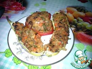 Рецепт Кабачки, фаршированные кускусом и овощами