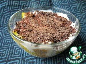 Рецепт Зимний фруктовый десерт со сметанным кремом