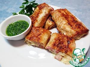 Рецепт Лаваш с сыром и ветчиной