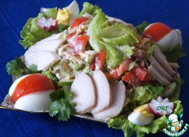 Салат хрустящий рецепт пошагово