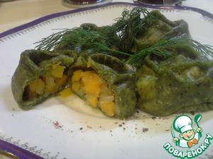 Рецепт Зеленые манты с тыквой
