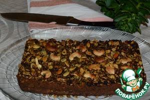 Рецепт Чечевичный пирог с грибами, брокколи и семечками