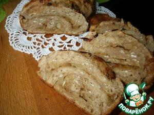 Рецепт Быстрый хлеб из 2 видов муки с овсяными хлопьями и жареным луком