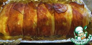 Куриный пирог с сыром и беконом