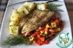 Рецепт Тилапия с кукурузной сальсой