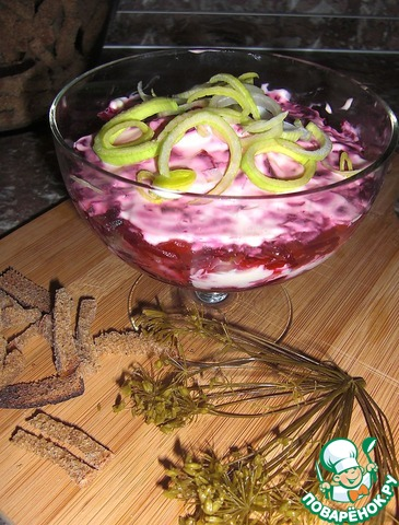 Рецепт салата в креманке 110