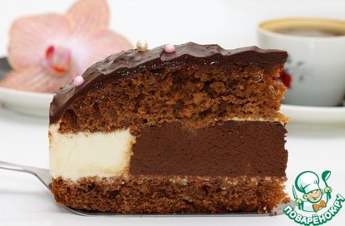 Шоколадно-сливочный торт