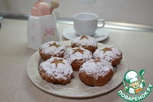 Рецепт Яблочные кексы с курагой