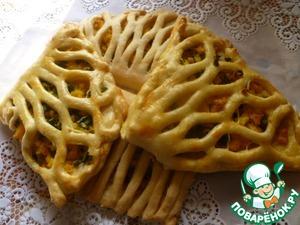 Рецепт Слойки с варенным яйцом и зеленым луком
