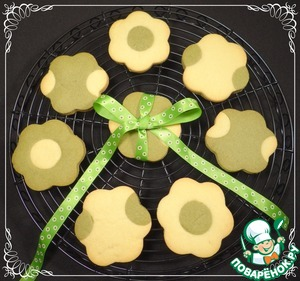 Как готовить Песочное печенье с чаем матча вкусный рецепт с фото