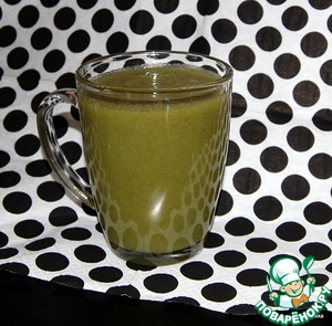 Рецепт Зелёный коктейль с заячьей капустой