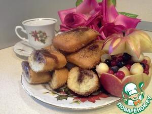 Рецепт Пончики воздушные с шоколадом