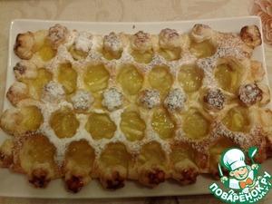 Рецепт Еще один яблочный пирог на слоеном тесте