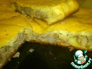 Рецепт Пирог с фаршем и картофелем