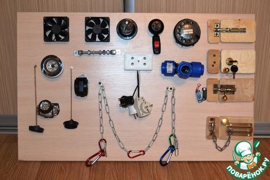 Доска с кнопками для ребенка своими руками 39