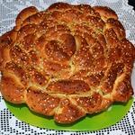"""Турецкий чесночный хлеб """"Роза"""" с базиликом"""