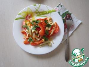 Рецепт Салат из нута с яблоками и сладким перцем
