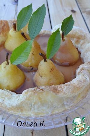 Рецепт Пирог « Медовая груша» в коричном желе